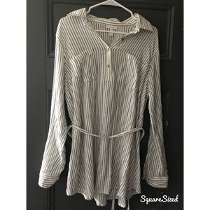 Blue Striped Maternity Shirt